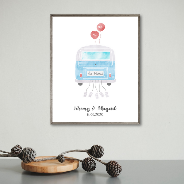 personalized wedding gift for van couple-van poster