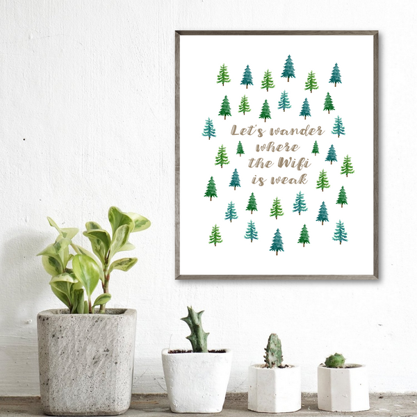 home decor ideas-gift for adventurer-adventure print