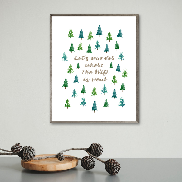 adventure poster-van decor ideas-adventure print