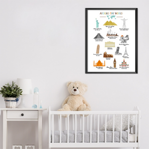 Nursery Wall Art-World Famous Monuments-World Landmarks