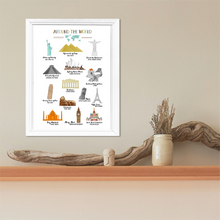 Famous Monuments Of The World-Wall Art Print