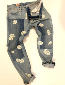 Reworked Levi Denim Jeans