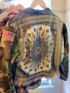 Reworked Cropped Camo Jacket