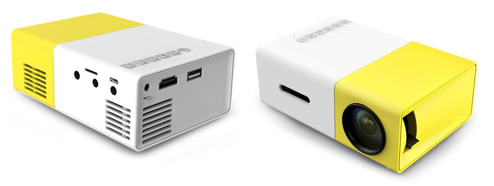 Qualandise Lumi projector front and back view
