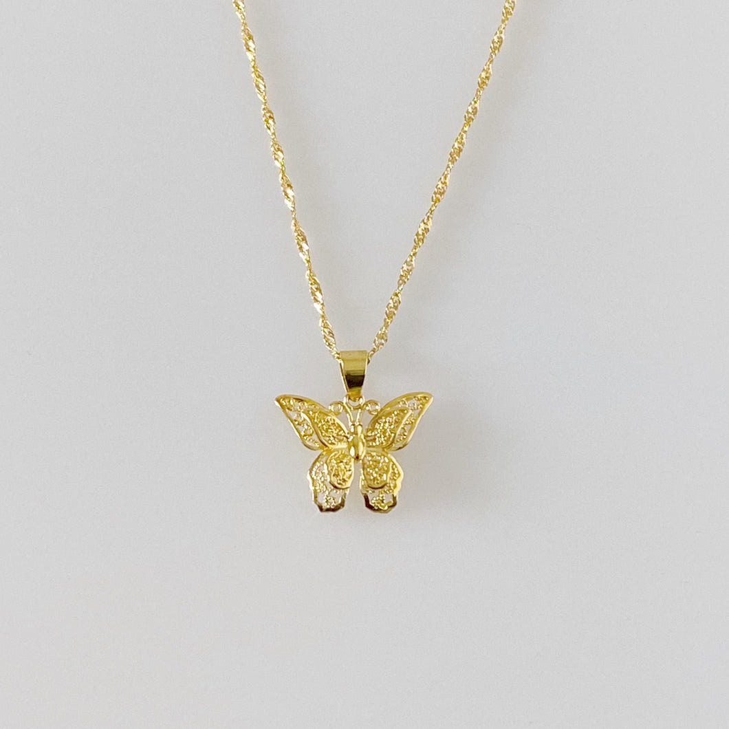 BUTTERFLY DOUBLE NECKLACE