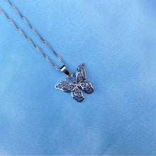 Load image into Gallery viewer, SILVER BUTTERFLY DOUBLE NECKLACE