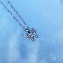 Load image into Gallery viewer, SILVER CZ BUTTERFLY NECKLACE