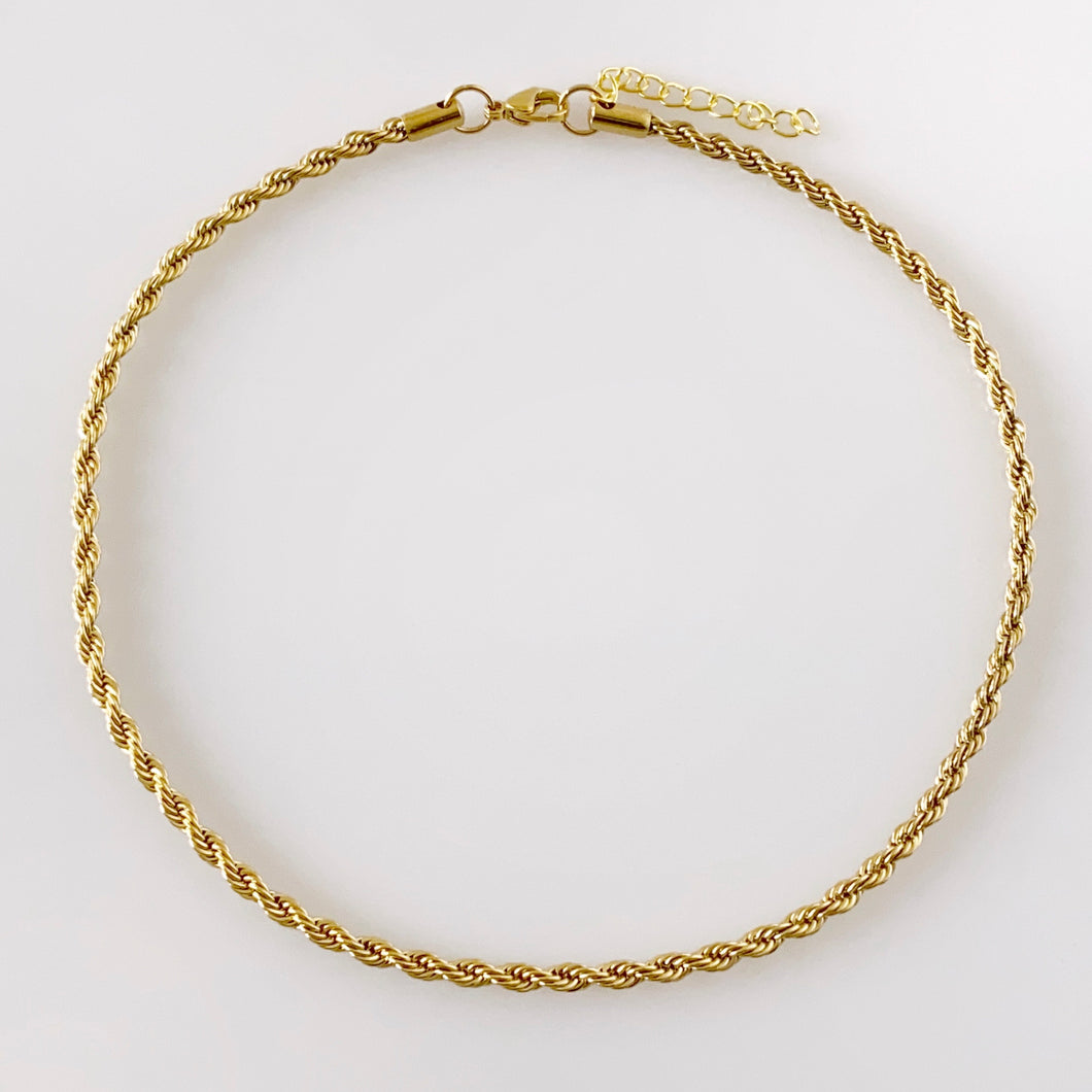 CHUNKY ROPE CHAIN - GOLD