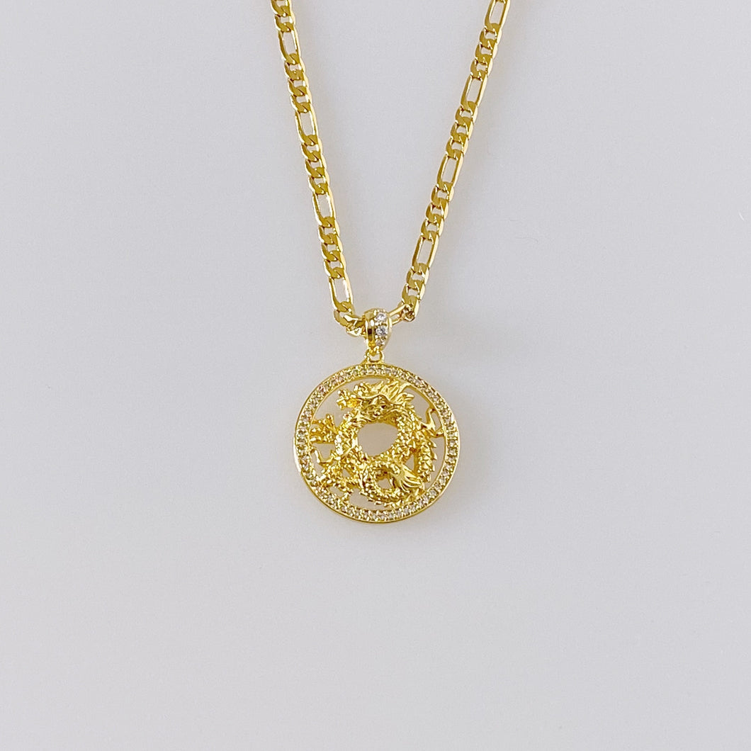 CHINESE DRAGON CIRCLE NECKLACE