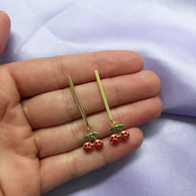 Load image into Gallery viewer, CHERRY DROP EARRINGS