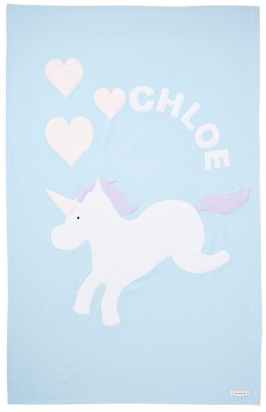 Personalized Unicorn Kids Blanket