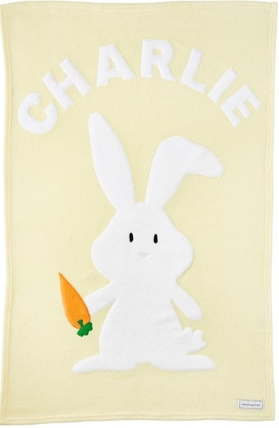 Personalized Bunny Baby Blanket