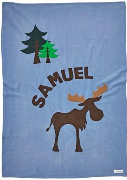 Personalized Moose Kids Blanket