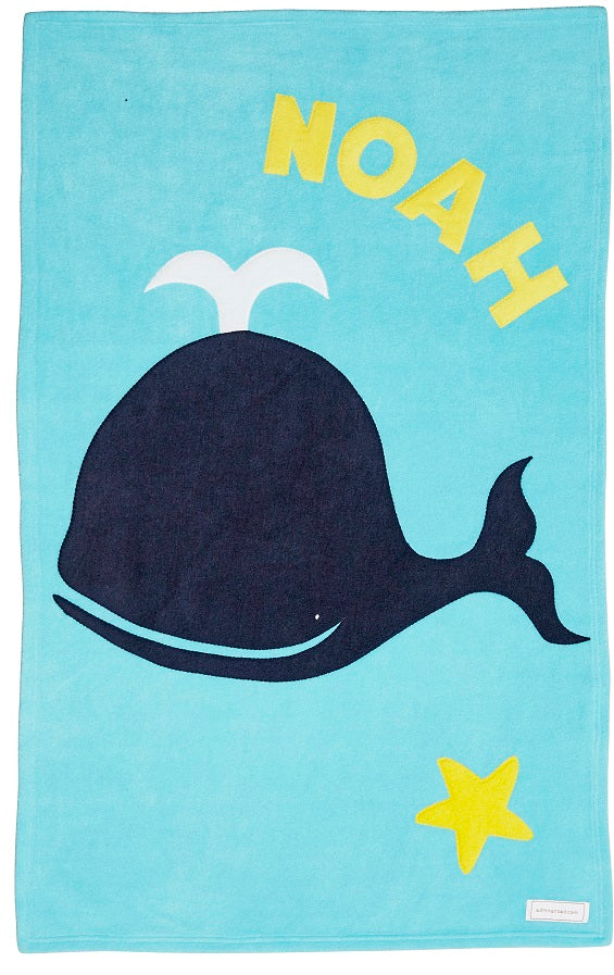 Personalized Whale Baby Blanket
