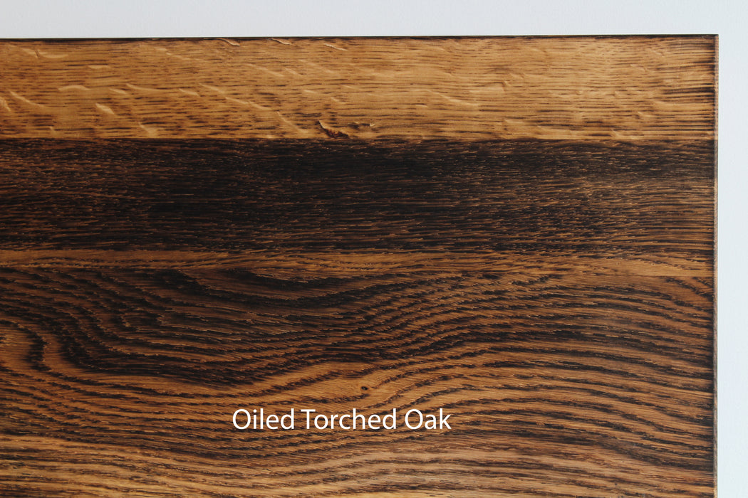 Modern Hardwood Deep Shelves | Oak | Full Brackets
