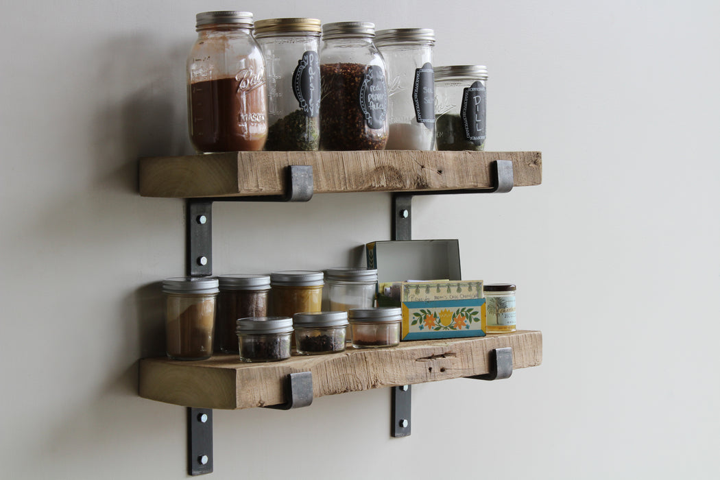 Reclaimed Barn Wood Accent Shelves