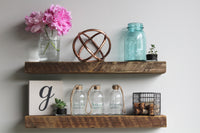 Reclaimed Barn Wood Floating Accent Shelves