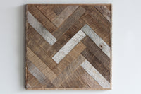 Reclaimed Barn Wood Wall Art | Herringbone