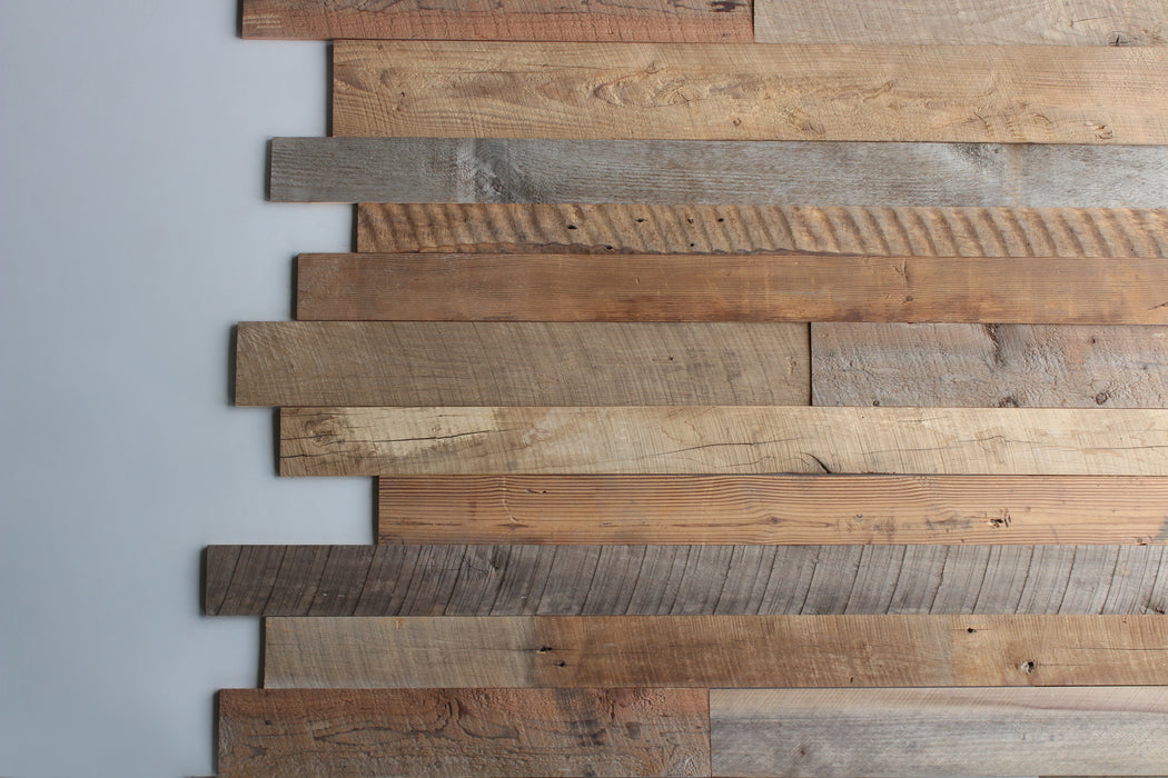 Eastern Mix Reclaimed Wood Wall Planks, 50 sq ft bundle
