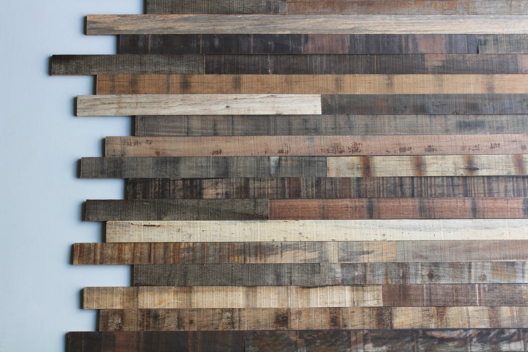 Tropical Hardwood Reclaimed Wood Wall Planks
