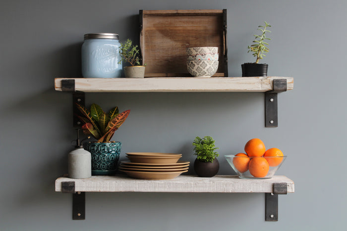 Reclaimed Barn Wood Wide Plank Shelves
