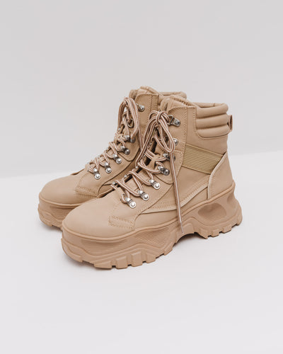 Fendo Lace up Boot in cream - Broke + Schön Shop