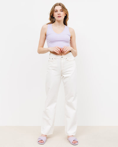 High-Waist Straight Leg Jeans - Broke + Schön#farbe_light-ecru