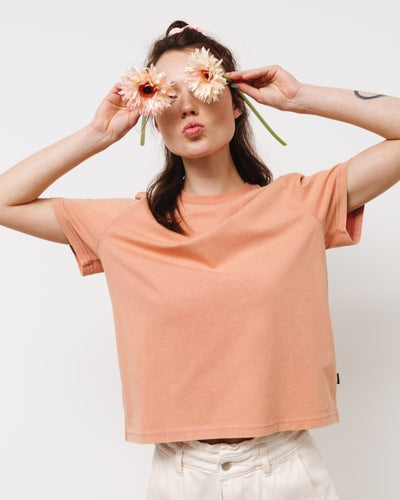 Boxiges Basic T-Shirt - Broke + Schön#farbe_washed-terracotta