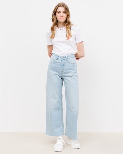 Gecroppte High-Waist Jeans - Broke + Schön#farbe_superlight-blue