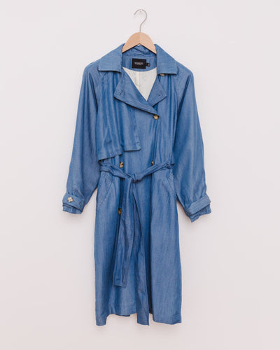 SL Nuna Trenchcoat in light blue denim - Broke + Schön Shop