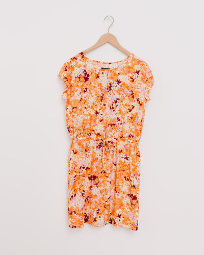 SLElisha Lavada Dress in butterscotch print - Broke + Schön Shop