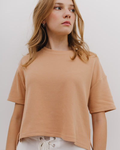 Kastiges Piqué Shirt- Broke + Schön#farbe_light-brown
