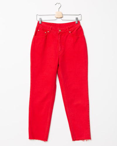 Super High-Waist Mom Jeans - Broke + Schön#farbe_od red