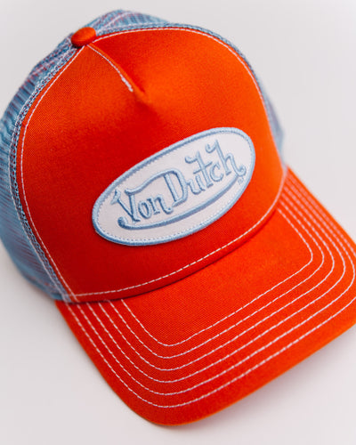 CAP OG TRUCKER ORANGE / BLUE - Broke + Schön
