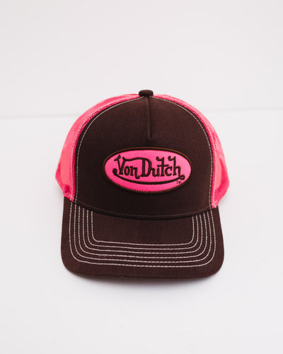 CAP OG TRUCKER DK BROWN / PINK - Broke + Schön Shop