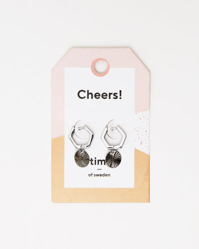 Hexagonal Hoops with Plate Earrings - Broke + Schön