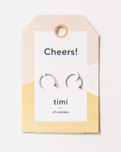 Hoop Earrings with Tiny Ball - Broke + Schön