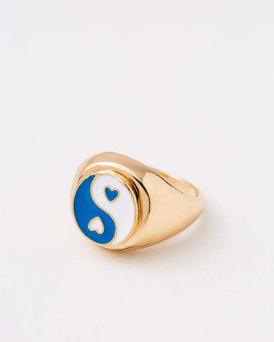 Statement Yin Yang Siegelring - Broke + Schön#farbe_gold-colored