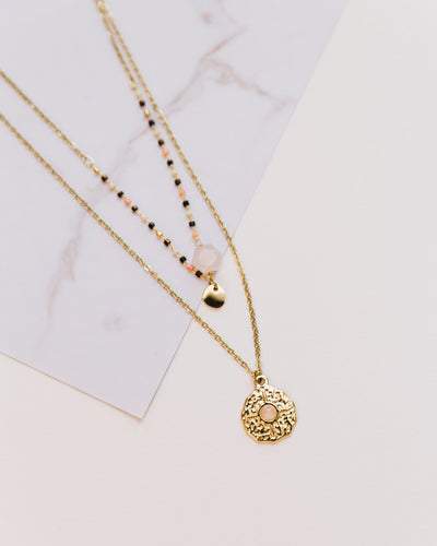 Kette Colorful Pearls in rosa - Broke + Schön Shop