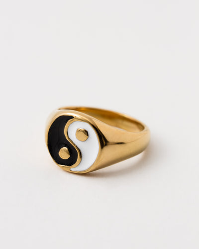 Yin Yang Siegelring - Broke + Schön#farbe_gold-colored