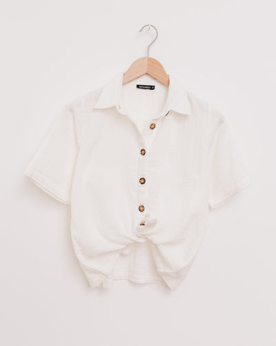 Anni Shirt in white - Broke + Schön Shop