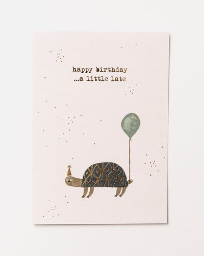Happy Birthday Turtle Postcard - Broke + Schön