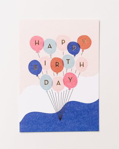 Happy Birthday Balloons Postcard - Broke + Schön