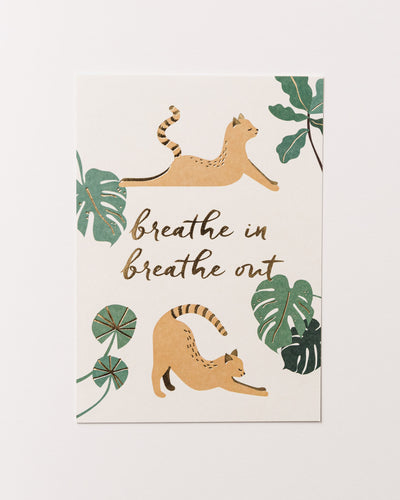 Postcard Breathe IN Breathe OUT - Broke + Schön