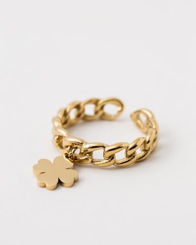 Gliederketten Ring - Broke + Schön#farbe_gold-colored