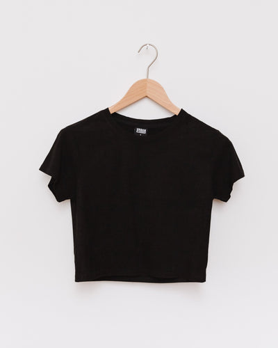 Ladies Cropped Peached Rib Tee - Broke + Schön Shop