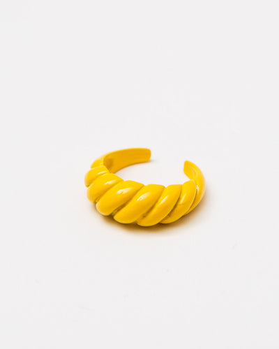 Offener Ring in Croissant-Form - Broke + Schön#farbe_bright-yellow