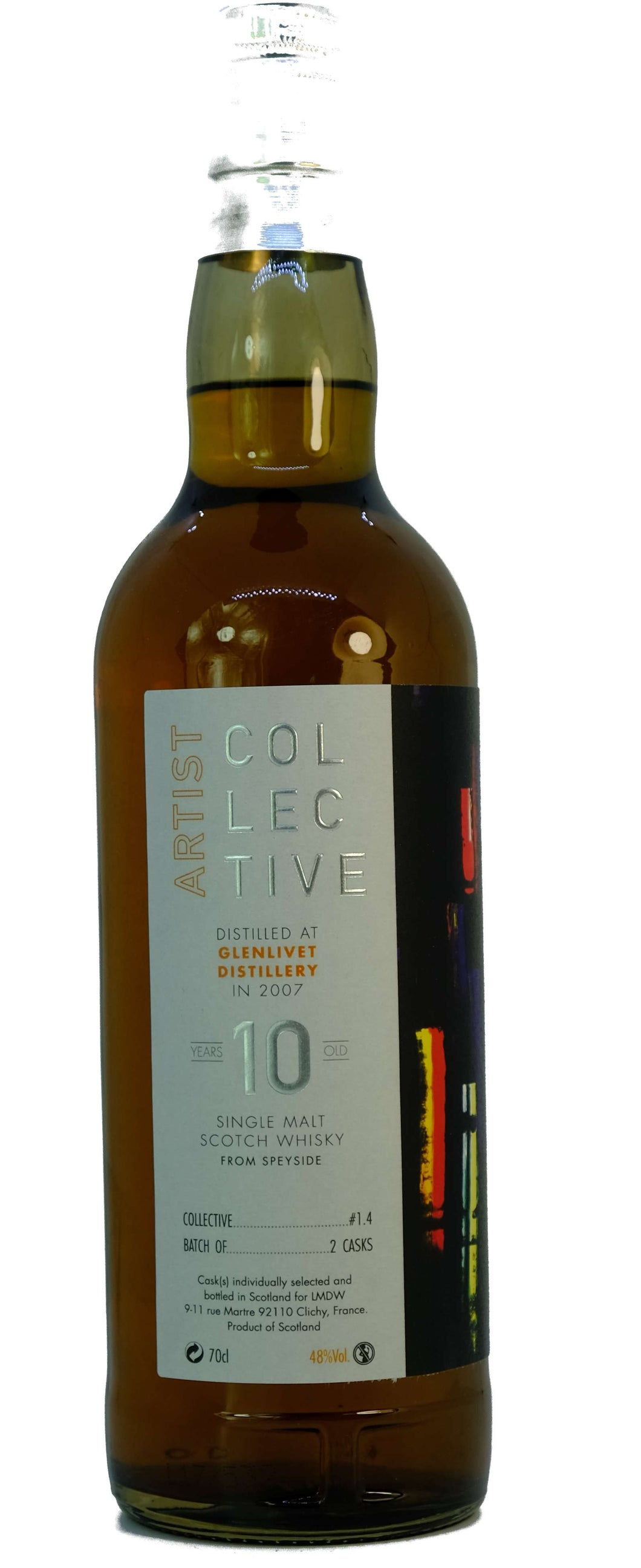 Whisky Glenlivet 10 ans version Artist Collective 2007