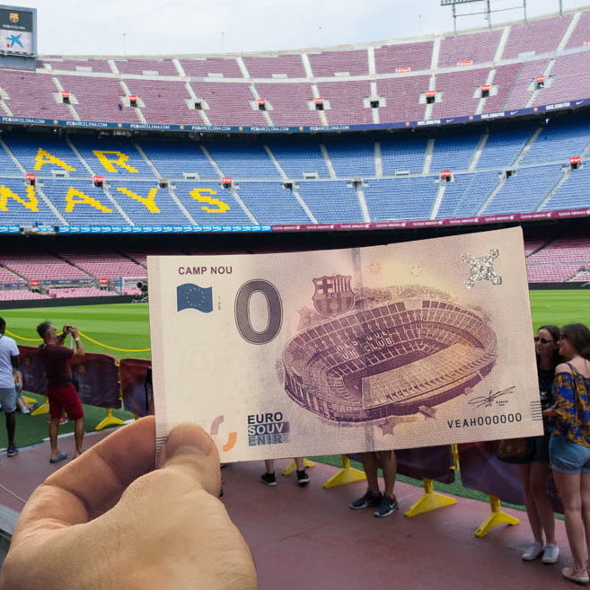 Europa Press : El FC Barcelona edita un billete de banco del Camp Nou