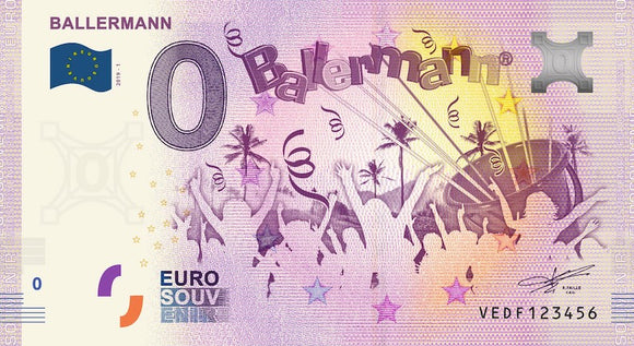Billete Eurosouvenir Ballerman 2019